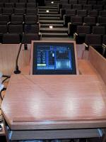 view of the touch panel in the lectern