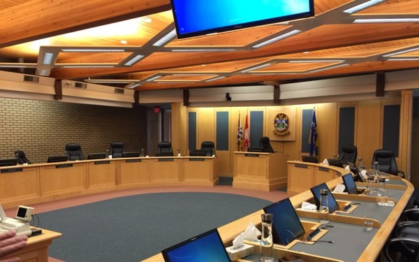 City of Prince George Council chamber